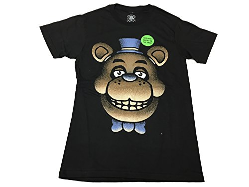 Five Nights At Freddy's Men's Fazbear Creepy Big Face Glow In The Dark T Shirt