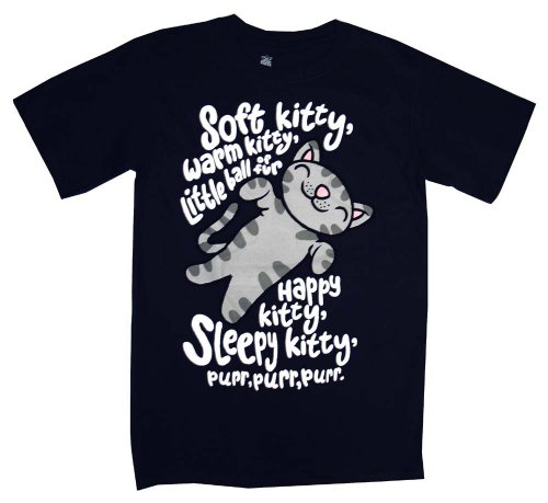 The Big Bang Theory Soft Kitty Warm Kitty Ice Grey Mens T-Shirt Tee