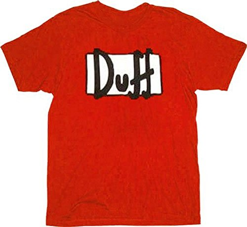 The Simpsons Duff Beer Red T-shirt