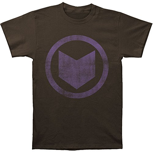Hawkeye Men's Distressed Icon Slim Fit T-shirt Coal