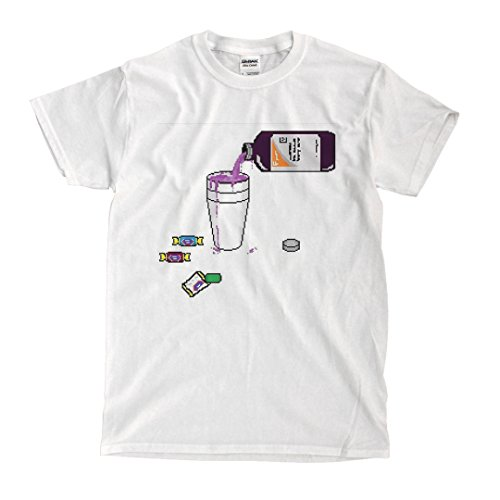 Pouring Lean white T-shirt (l)
