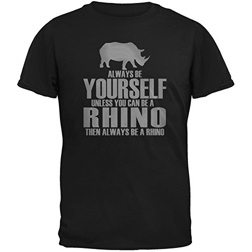 Always Be Yourself Rhino Black Adult T-Shirt