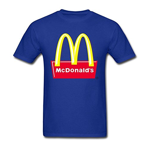 Xanyi Men's Designed Classic Mcdonalds Logo 100% Cotton T-shirt