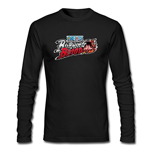 SAMMA Men's One Piece Burning Blood Long Sleeve T Shirt