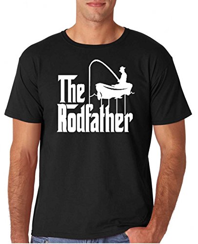 Adult The Rodfather Funny Fishing T Shirt