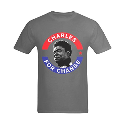 Youranli Men's Charles Bradley For Changes Poster Design Tee-shirts