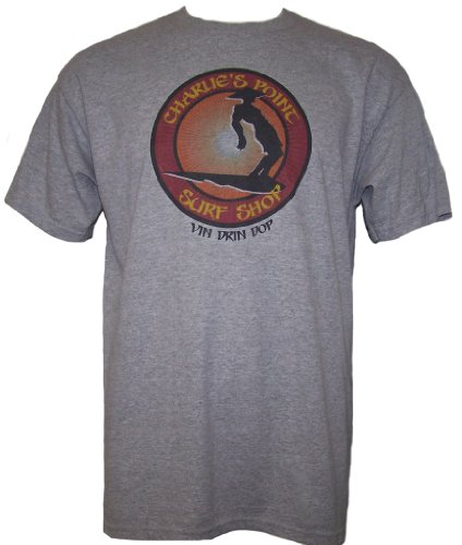 Apocalypse Now CHARLIE'S POINT SURF SHOP VIN DRIN DOP Mens Short Sleeve T Shirt