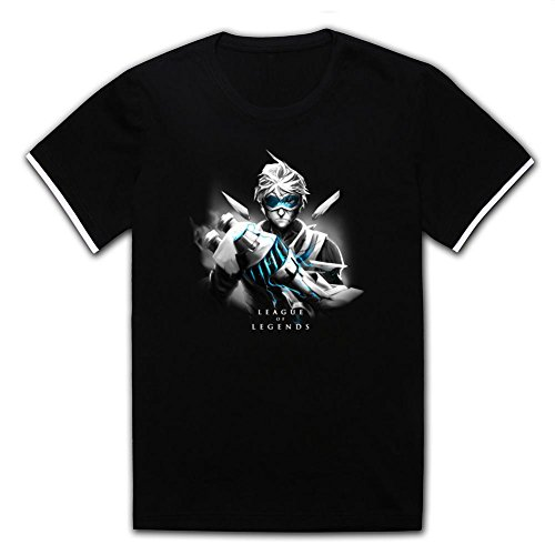 Amazingshirt Personalized Shirt for Men 100% Cotton-League of Legends Ezreal Black