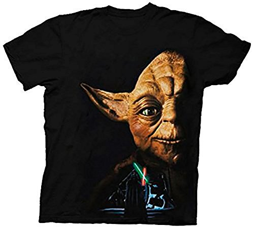 Star Wars Return of the Jedi Last Battle Yoda Black Adult T-Shirt Tee
