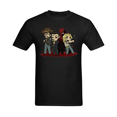 Kuang Tees Men's Deadly Premonition Characters Art Design T-Shirt