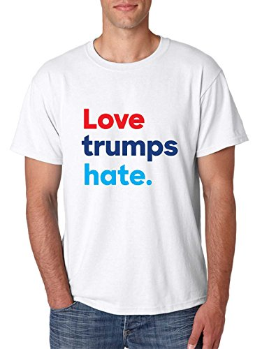 Allntrends Men's T Shirt Love Trumps Hate Elections 2016 USA Tee
