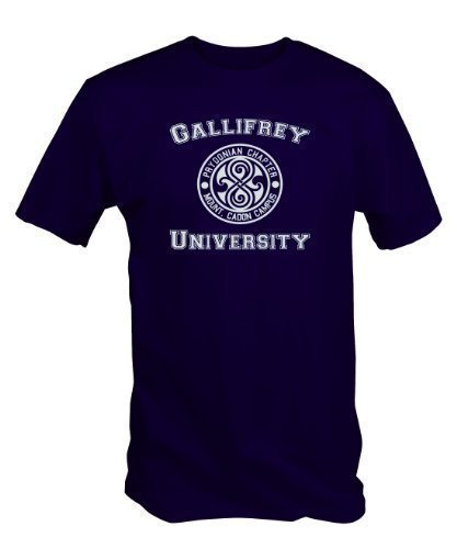 6 Tee Niners Men's University Of Gallifrey Dr Who T-Shirt