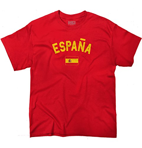 Spain Flag World Cup Soccer Spanish Espana National Flag Pride T-Shirt