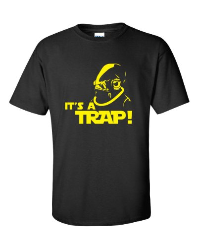 Jacted Up Tees Admiral Ackbar Star Wars It's a Trap Men's Tee Shirt SHIPS FROM OHIO USA