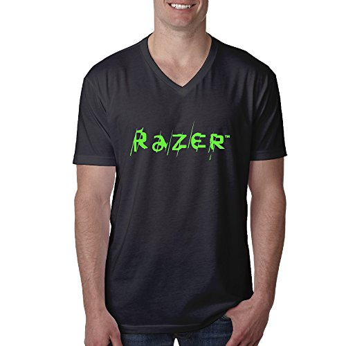 Razer Male's Optimum Short Sleeve Funny Design Graphic T Shirts Printing