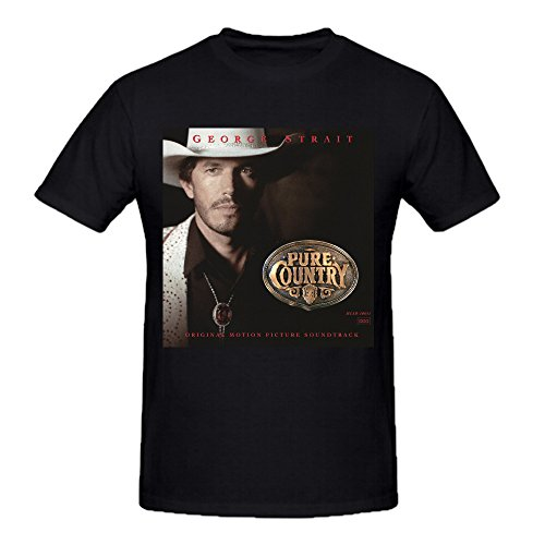 Heeloo Men's George Strait Pure Country Personalized Big T Shirt