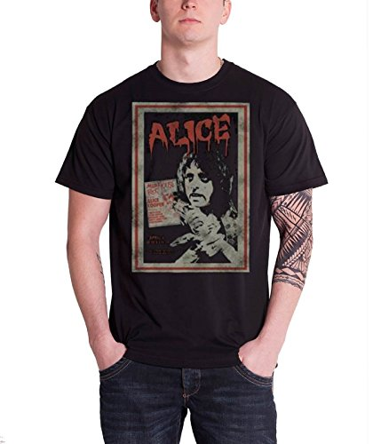 Alice Cooper Vintage Poster mad house rock Official New Black T Shirt