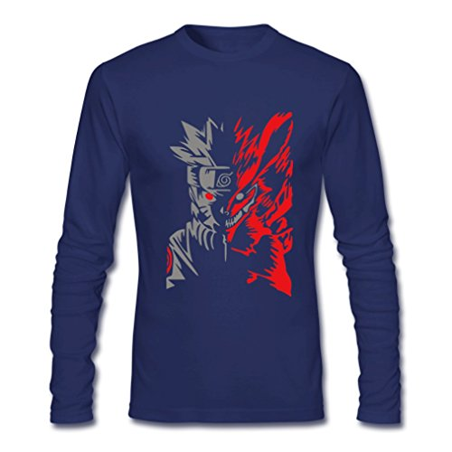 HJGBEDS Boy Mens Japan Anime Hokage Ninjia Naruto Long Sleeve Tshirt Tee
