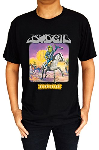 Budgie Bandolier Rock Metal Band Logo Men's T-Shirt