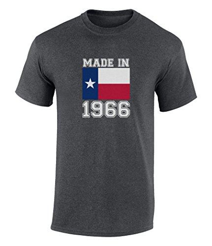 Happy 50th Birthday Gift T-Shirt With Made In Texas 1966 Graphic Print