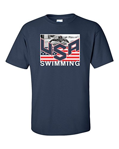 Jacted Up Tees USA Swimming Team Michael Phelps Men's T-Shirt SHIPS FROM OHIO USA