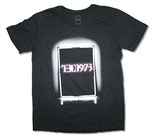 The 1975 Neon Sign Image Adult Black T Shirt (L)