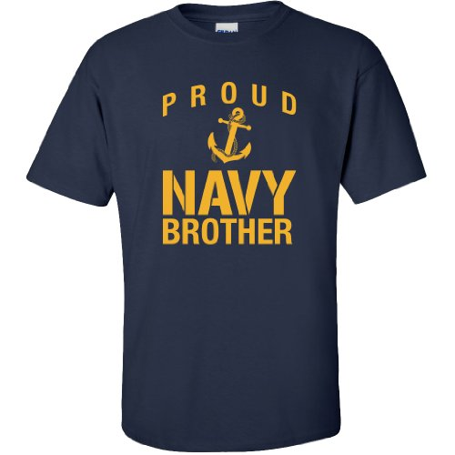 Proud Navy Brother Short Sleeve T-Shirt in Navy