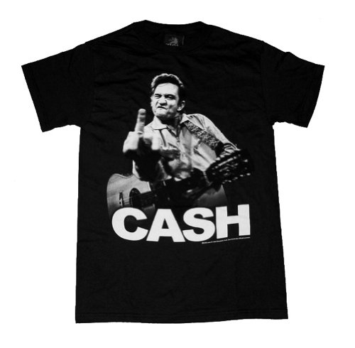 ZION Rootswear Gray Johnny Cash Flippin T-Shirt Gray