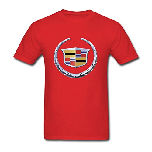 UOOLTTR Men's General Motors Cadillac Logo T-Shirt Red XL
