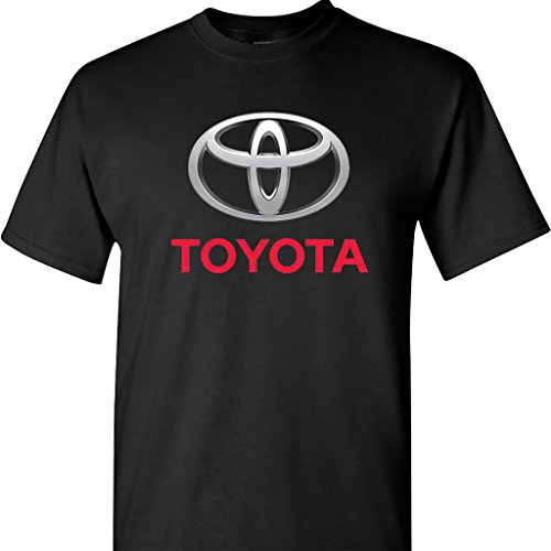 Toyota Chrome Logo on a Black T Shirt