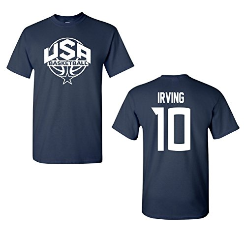 Jacted Up Tees USA Men's Basketball Kyrie Irving #10 Front&Back Men's T-Shirt SHIPS FROM OHIO USA