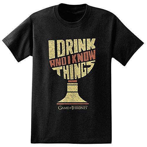 Game of Thrones I Drink & I Know Things Goblet Adult T-shirt