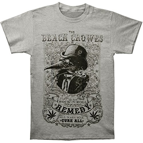 Black Crowes Men's Remedy Slim Fit T-shirt Grey