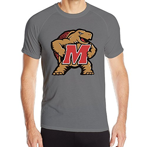 Men Maryland Terrapins Logo Athletic Quick Dry T-shirt DeepHeather