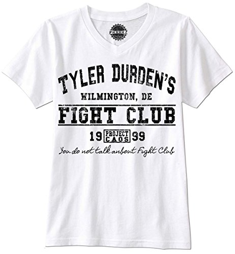 PHUNKZ T-SHIRT TYLER DURDEN FIGHT CLUB BRAD PITT RETRO VINTAGE PROJECT CAOS SWAG, L