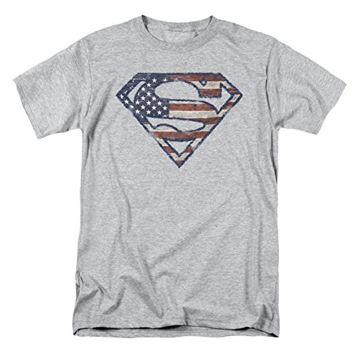 DC Comics Men's Big-Tall Superman Logo American Flag Shield T-Shirt
