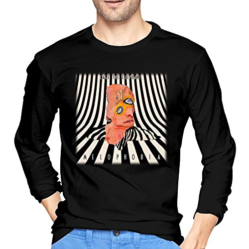 Men's Melophobia Cage The Elephant Music T-shirt Black Long Sleeve