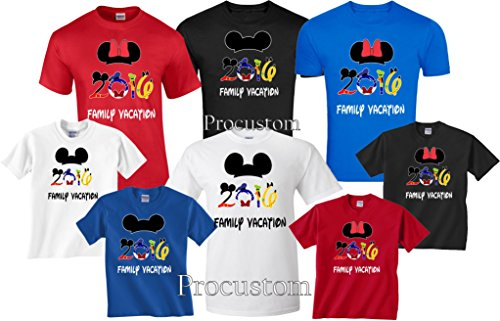 Disney Family Vacation 2016 Matching T-Shirts (3T, Blue Mickey)