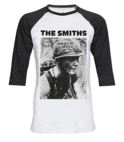 The Smiths Meat is Murder 3/4 Sleeve Baseball Tee T-Shirt