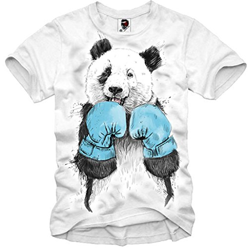 E1SYNDICATE MENS T-SHIRT PANDA BOXER BOXING HIPSTER TYSON HOLYFIELD S/M/L/XL
