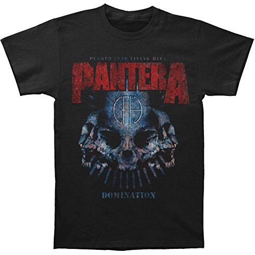 Pantera Men's Domination Distressed T-shirt Black