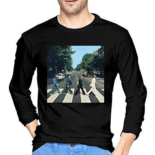Man's Abbey Road The Beatles Long Sleeve Tee Crew Neck T Shirts