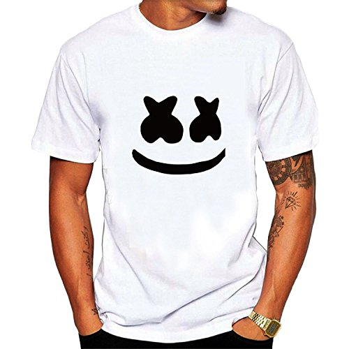 Men's Marshmello Face Casual Tee Black