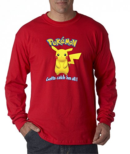 New Way 562 - Unisex Long-Sleeve T-Shirt Pokemon GO Gotta Catch 'Em All Pikachu