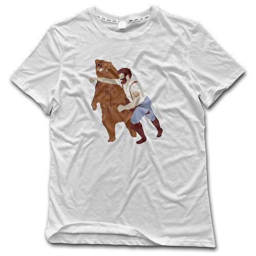 Men's Haymaker Bear Punch Funny Graphic Crazy Shirts Printed