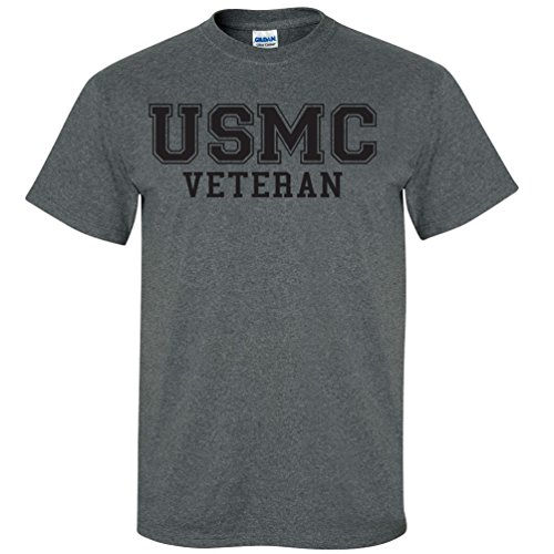 USMC Veteran BLACK logo Athletic Marines Short Sleeve T-Shirt
