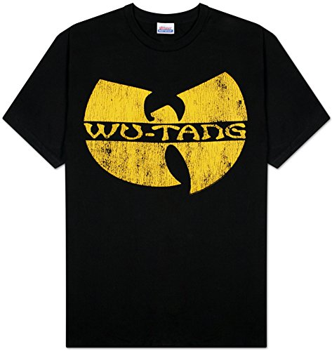 Wu-Tang Clan Classic Yellow Distressed Logo Adult T-Shirt