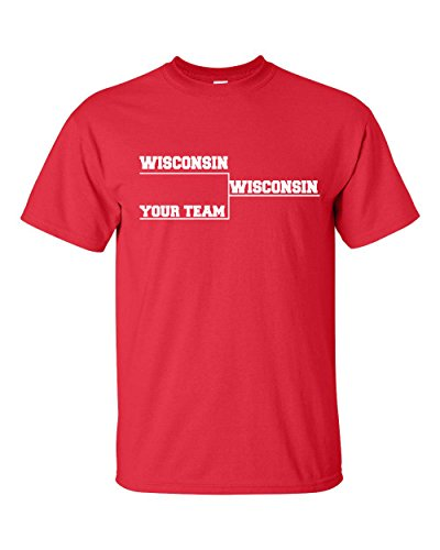 Up Tees Wisconsin College Basketball Bracket T-Shirt SHIPS FROM OHIO USA