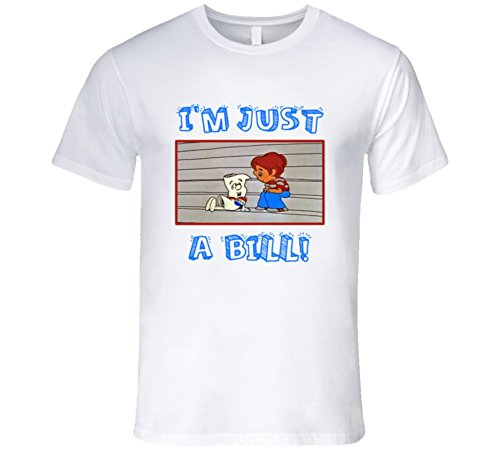 Rock I'm just a bill T-Shirt 1970's Retro TV Cartoon School House Rock T Shirt