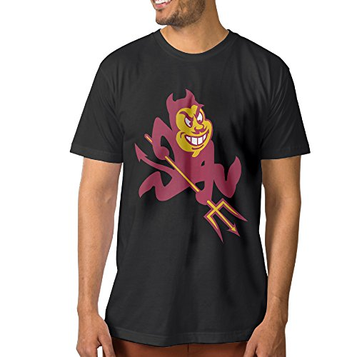Tee Fashion Arizona State University ASU Sun Devils Mascot Sparky Black